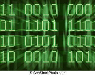 Data - Illustration of digits
