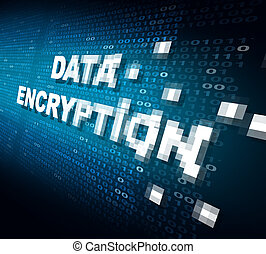Data Encryption - Data encryption concept as the word for...
