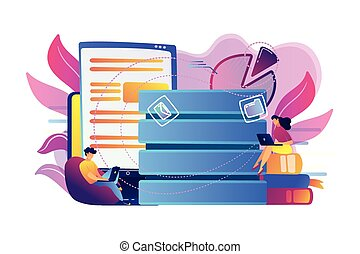 Data entry concept vector illustration.