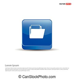 Data folder icon - 3d Blue Button