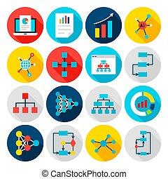 Data Graph Flat Icons