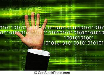 data, hand