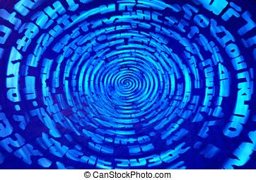 Data information teleport swirl illustration background