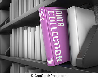 data, kollektion, -, titel, av, book., information, concept.