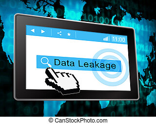 Data Leakage Information Flow Loss 3d Illustration