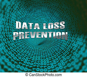 Data Loss Prevention Security Shield 3d Illustration