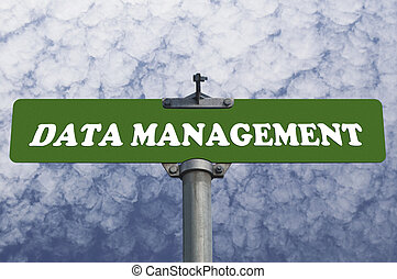 Data management road sign