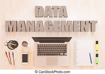 Data Management text concept
