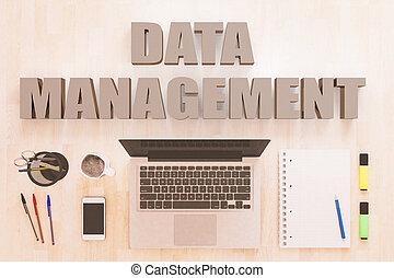 Data Management text concept