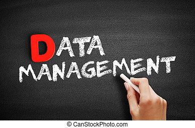 Data Management text on blackboard