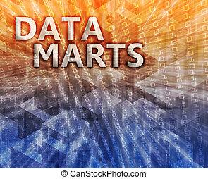 Data mart illustration - Data mart abstract, computer...