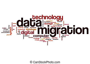 Data migration word cloud
