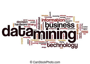 data, mijnbouw, woord, wolk