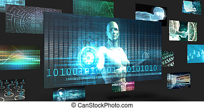 Data Mining Sales and Marketing Abstract Concept