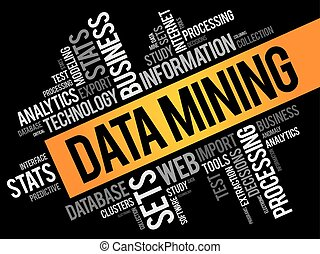 Data Mining word cloud collage