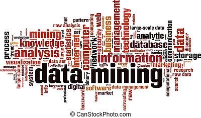 Data mining word cloud concept. Vector illustration