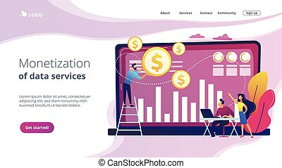 Data monetization concept landing page.