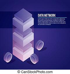 data, netwerk, kaart
