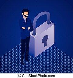 data network businessman concept - data network businessman ...