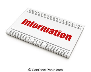 Data news concept: newspaper headline Information