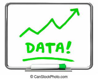 Data Numbers Information Erase Board Arrow 3d Illustration