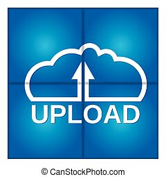 data., nuvem, computing., upload