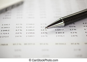 Data on papper and pencil - Business data analyzing