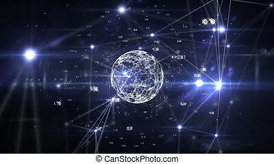 data, ongeveer, digitale , aansluitingen, globe