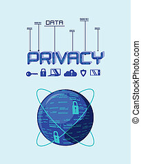 data privacy set icons vector illustration design