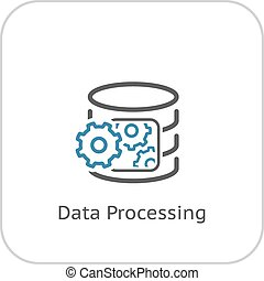 Data Processing Icon. Flat Design. Business Concept....