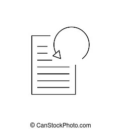 Data processing icon, outline style - Data processing icon....