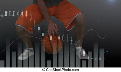 Data processing with basketball player playing