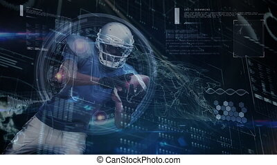 Data processing with football player