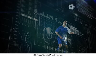 Data processing with football player playing