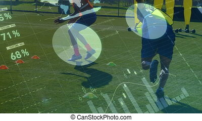 Data processing with football players training - Animation...