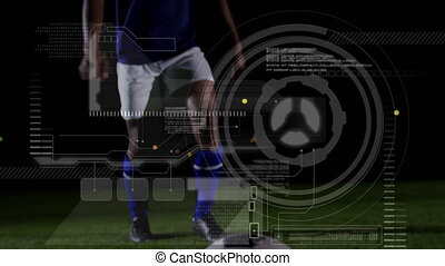 Data processing with low section football player training