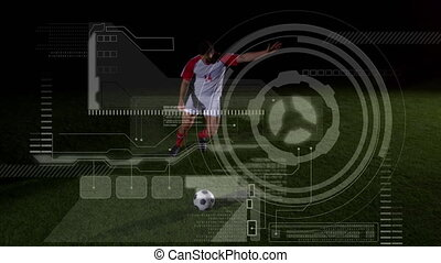 Data processing with soccer players playing