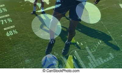Data processing with soccer players training