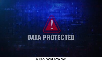Data Protected Alert Warning Error Message Blinking on...