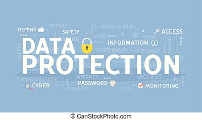 Data protection concept.