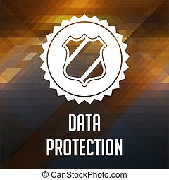 Data Protection Concept on Triangle Background.