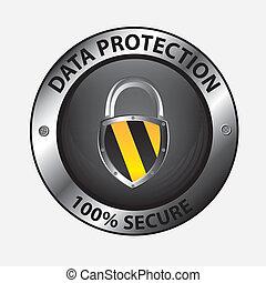 data protection design over white background vector illustration