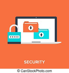 Data Protection - Vector illustration of data protection...