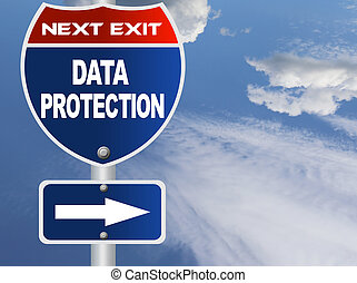 Data protection road sign