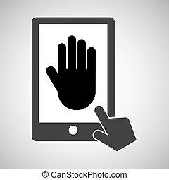 data protection smartphone digital print vector illustration...