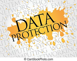 Data protection word cloud