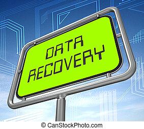 Data Recovery Software Bigdata Restoring 3d Illustration