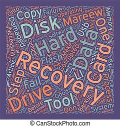 Data Recovery Tips text background wordcloud concept