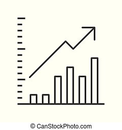 data report icon, business statistic concept, editable stroke outline