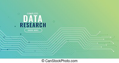 data research background with circuit diagram